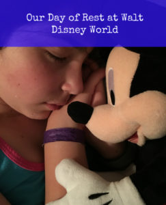 our day of rest at walt disney world
