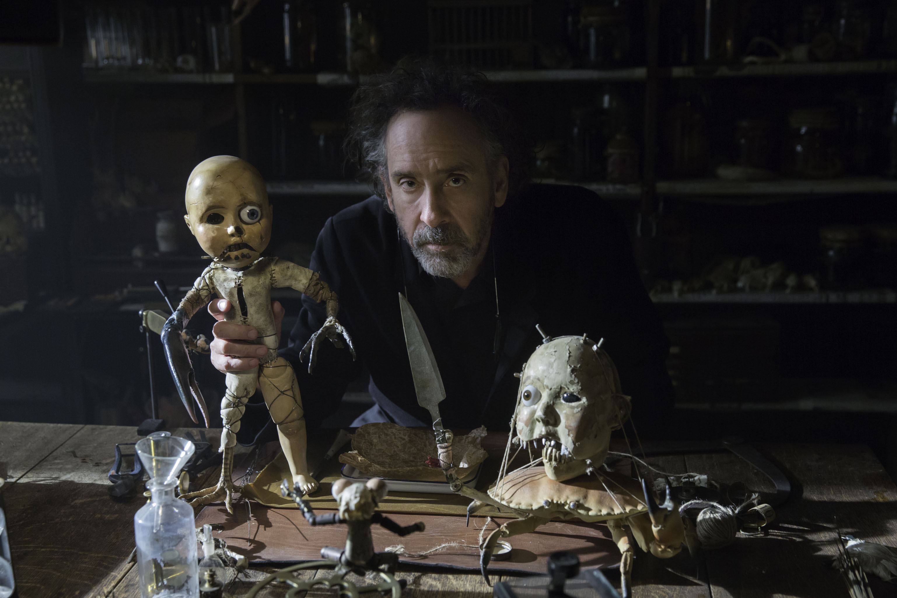 DF-03143_R - Director Tim Burton on the set of MISS PEREGRINE'S HOME FOR PECULIAR CHILDREN. Photo Credit: Leah Gallo.