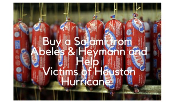 Buy a Salami from Abeles & Heymann and Help Victims of Houston Hurricane